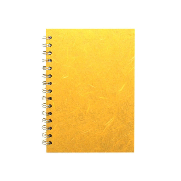 A5 Portrait, Yellow Watercolour Book by Pink Pig International