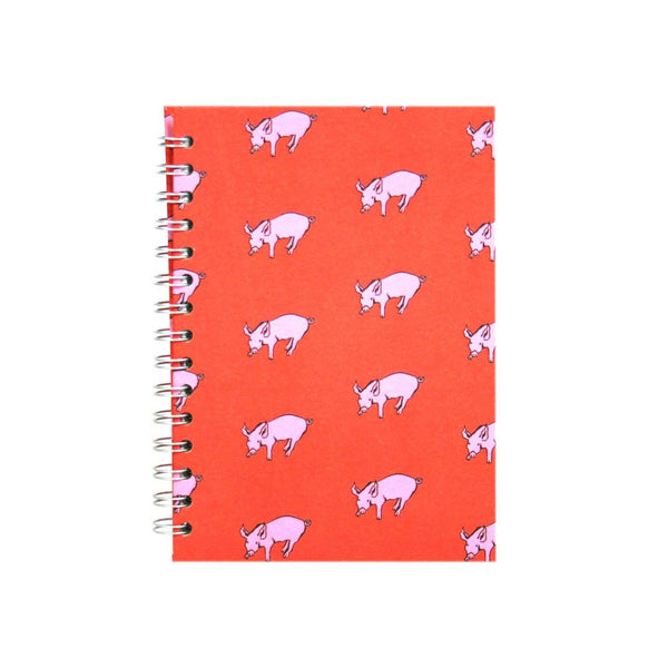 A5 Portrait, Rooster Red Sketchbook by Pink Pig International