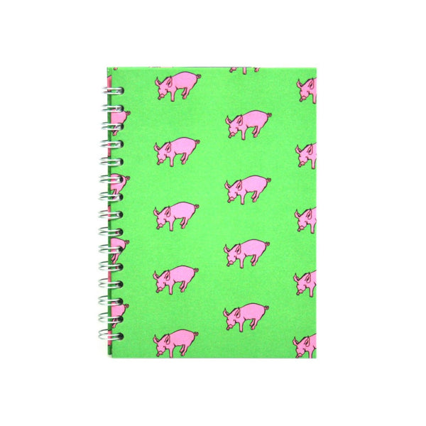 A5 Portrait, Meadow Green Sketchbook by Pink Pig International