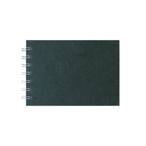 A6 Landscape, Dark Green Sketchbook by Pink Pig International