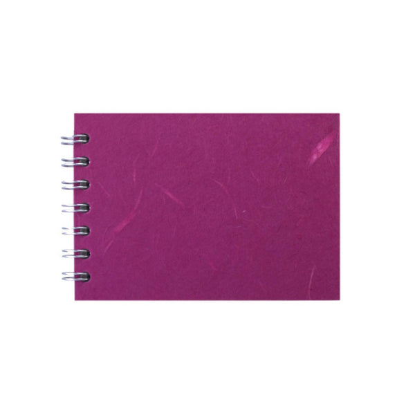 A6 Landscape, Bright Pink Sketchbook by Pink Pig International