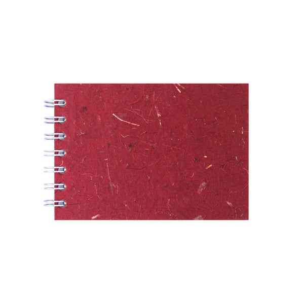 A6 Landscape, Burgundy Sketchbook by Pink Pig International