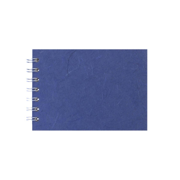 A6 Landscape, Mid Blue Sketchbook by Pink Pig International