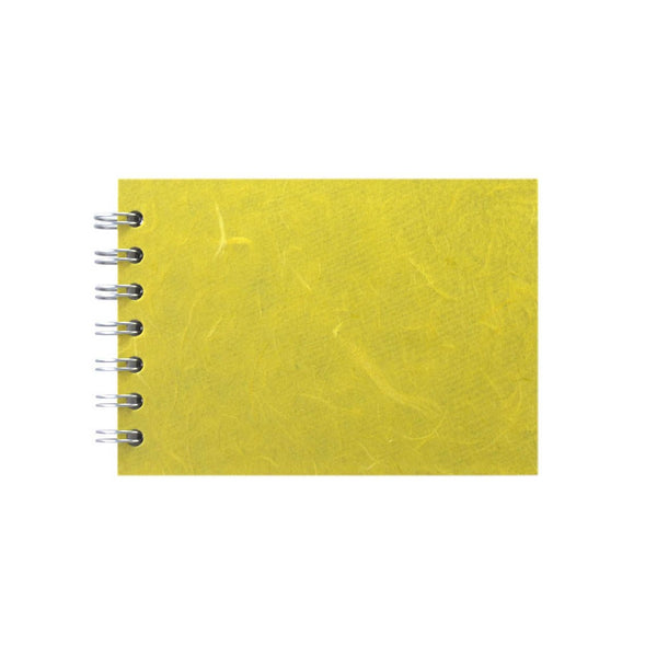 A6 Landscape, Yellow Sketchbook by Pink Pig International