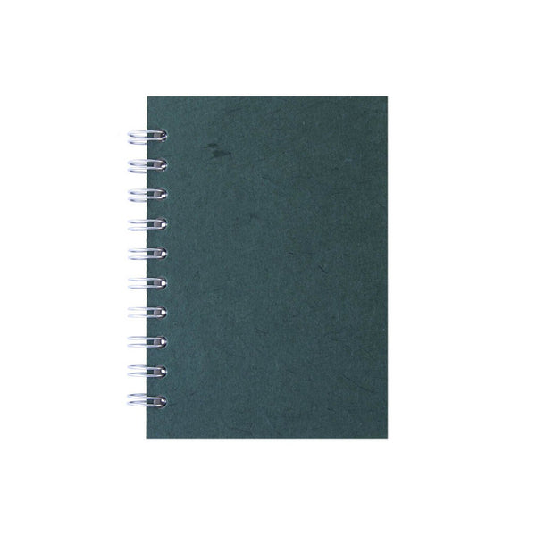 A6 Portrait, Dark Green Notebook by Pink Pig International