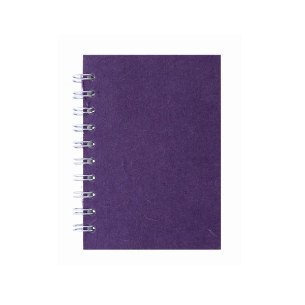 A6 Portrait, Aubergine Notebook by Pink Pig International