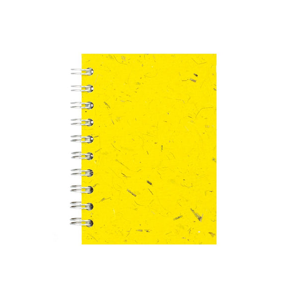 A6 Portrait, Wild-Yellow Notebook by Pink Pig International