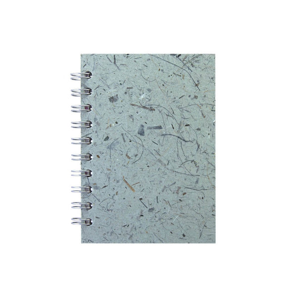 A6 Portrait, Sea Grey Notebook by Pink Pig International