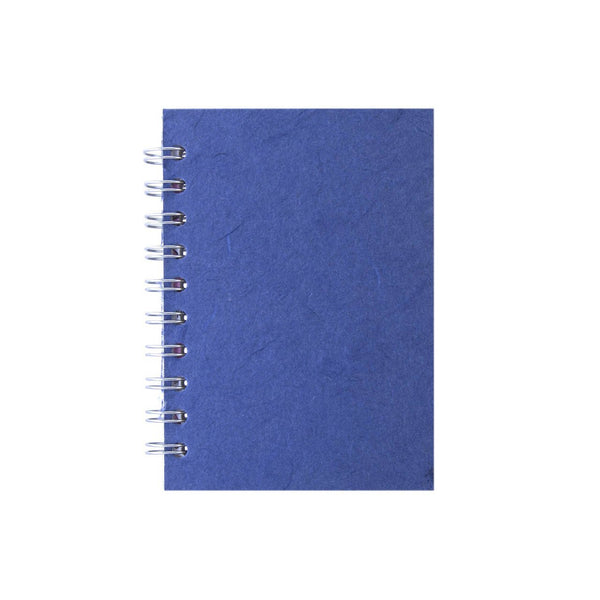 A6 Portrait, Mid Blue Notebook by Pink Pig International