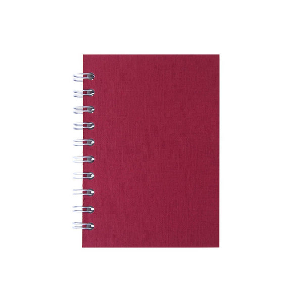 A6 Portrait, Eco Red Notebook by Pink Pig International