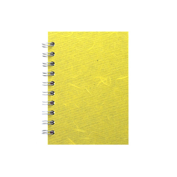 A6 Portrait, Yellow Sketchbook by Pink Pig International