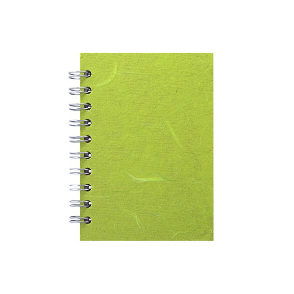 A6 Portrait, Lime Green Sketchbook by Pink Pig International