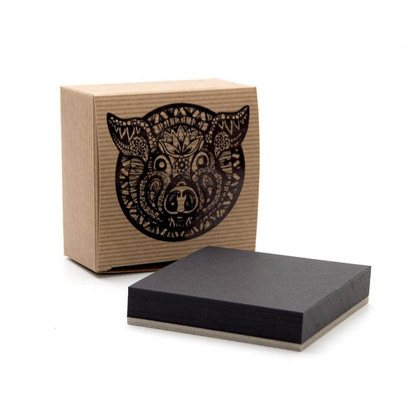 50 Zen Artist Tiles, Black Card by Pink Pig International