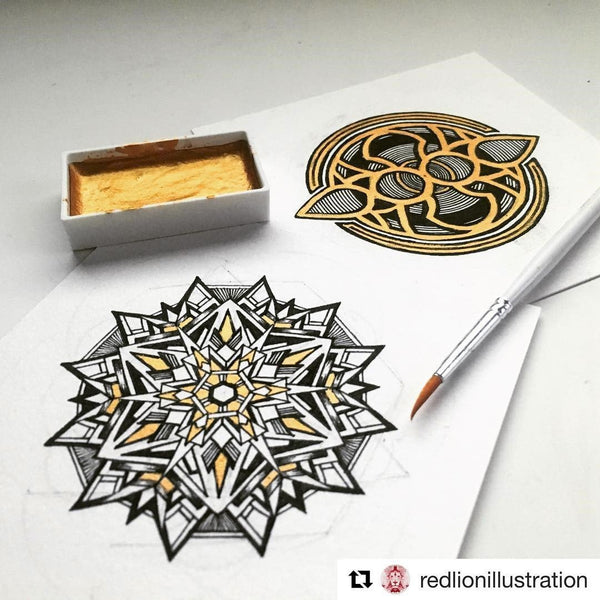 Another mandala drawing by Red Lion Illustration