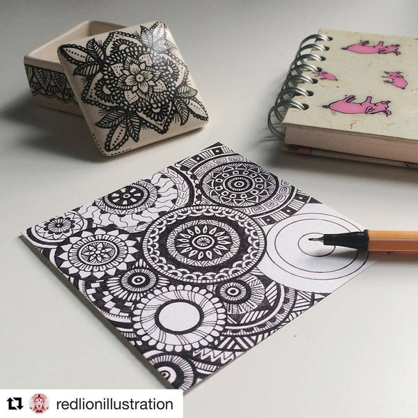 Mandala drawing by Red Lion Illustration