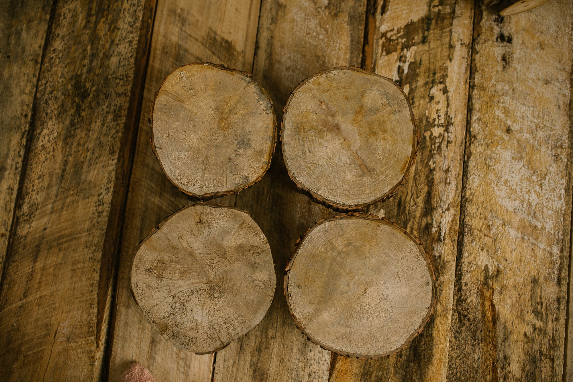 rustic milk stool