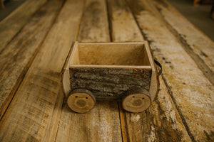 rustic train cart