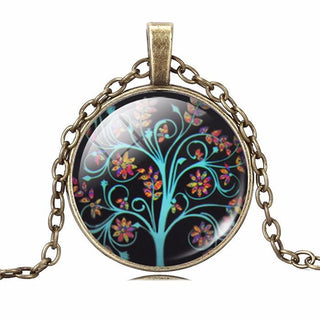 Nice And Trendy - Life Tree Round Pendant - 11 Beautiful Designs