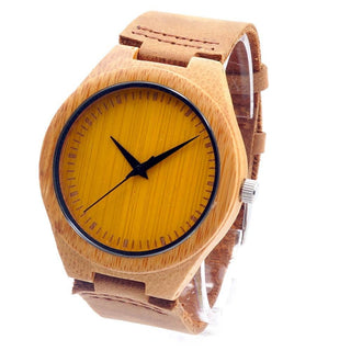 Bamboo Wood Watches With Colorful Dial + Gift Box