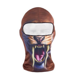 3D Print Safari Animals Outdoor Motorcycle Cycling Ski Balaclava Safari Full Face Masks