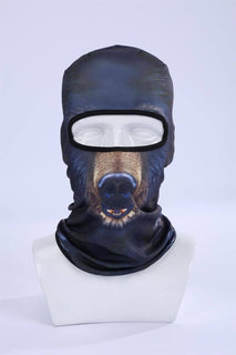 3D Print Bear Outdoor Motorcycle Cycling Ski Balaclava Bear Full Face Masks
