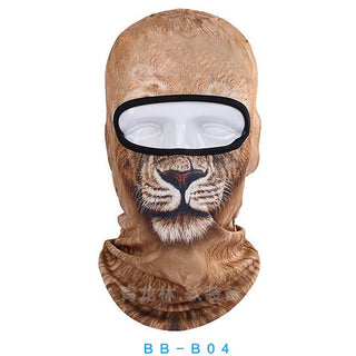 3D Print Pug Lion Outdoor Motorcycle Cycling Ski Balaclava Full Face Masks