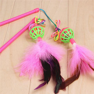2PCS/Set Cat Toy Teaser Wand