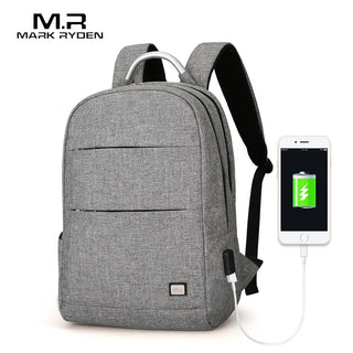 Mark Ryden™  - Waterproof Laptop Backpack with USB Charging Port