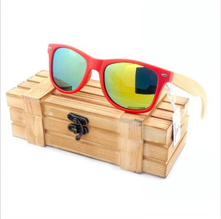 Handmade Natural Bamboo Wood Sunglasses - 4 Styles!