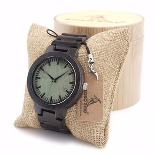 Dark Maple Wood Watches With Gift Box