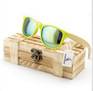 Summer Style Natural Bamboo Sunglasses