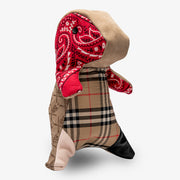 Red Vintage Bandana Burberry Plush Dinosaur