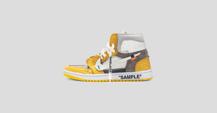 Air Jordan 1 OW Canary Yellow Lux