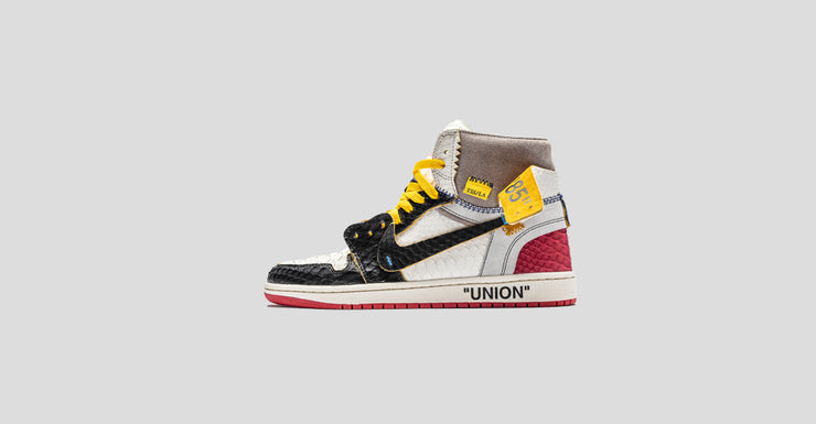 "F&F Off-White ""Union"" Black Toe Air Jordan 1"