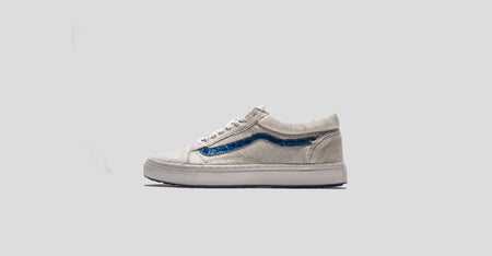 """Metallic White Pony"" Vans Old Skool"