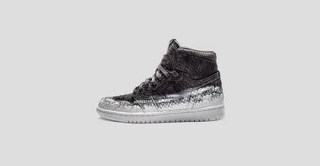 d2def78e790 Latex Painted Sueded Python Air Jordan 1