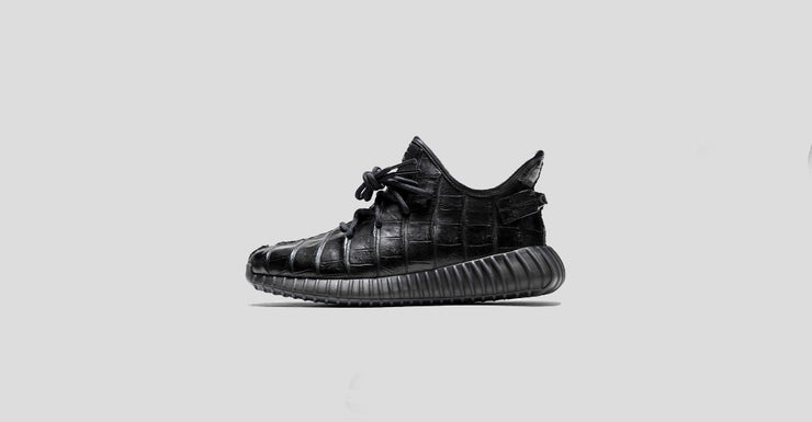 """Triple Black"" Croc Yeezy 350 V2"