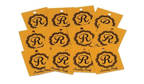 12 Gold Personalized Tags