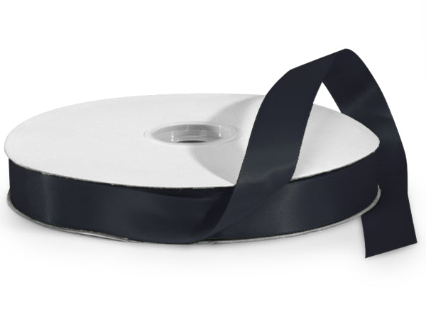 Black Satin Ribbon - 1""