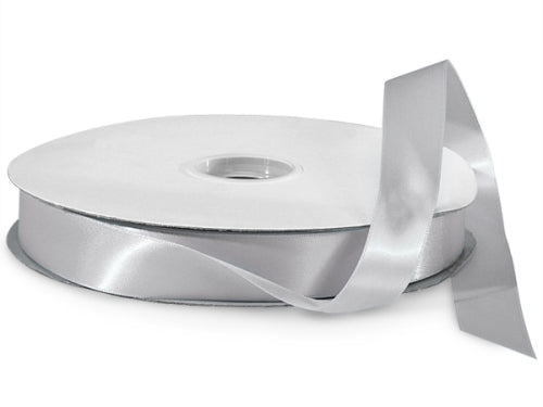 Silver Satin Ribbon - 1""