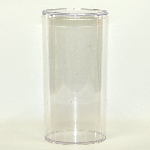 Tall Round Lucite Container