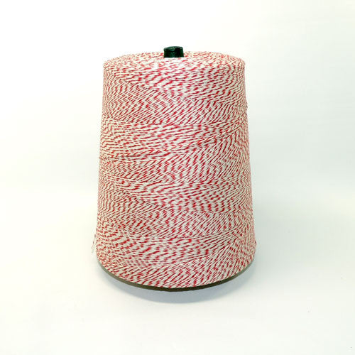 Bakers twine red and white 40 yds.