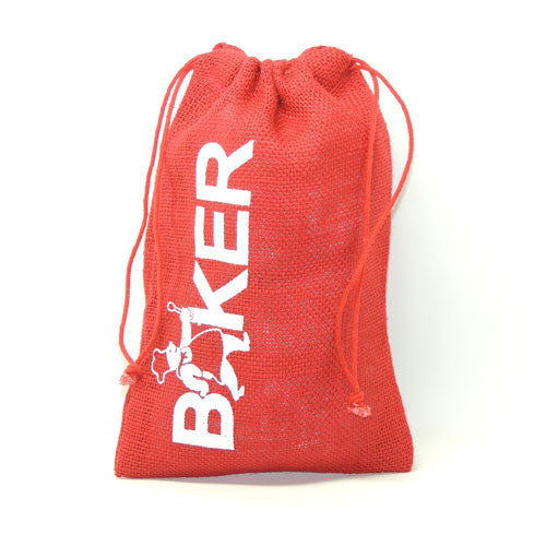 "Red baker burlap bag 6"" x 10"""