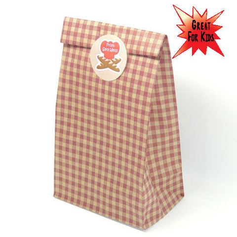 Gingham Bread Bag Kit