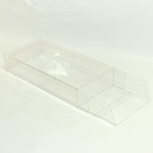 "Clear box with tray insert 4 1/4"" x 1 5/8"" x 8 1/2"""