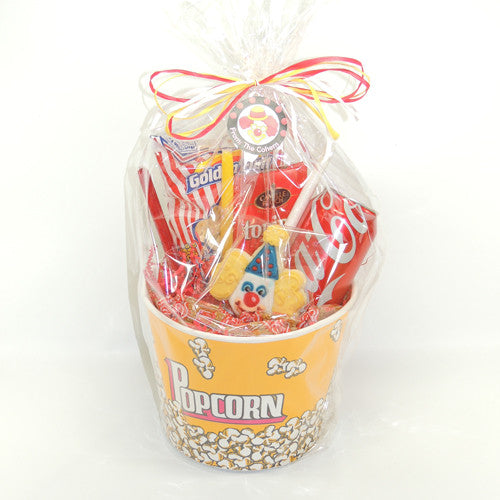 Clown popcorn bucket
