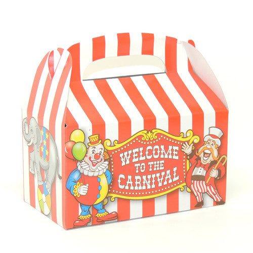 "Clown party box 6 1/8"" x 3 1/2"" x 3 3/8"""