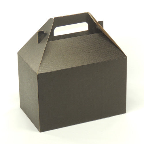 Black gable box 8 x 4 7/8 x 5 1/4""