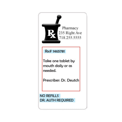 "10 Personalized Pill bottle labels 4"" x 2"""