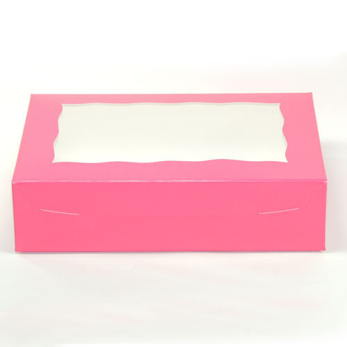 "Pink box w/ window 10"" x 7"" x 2 1/2"""
